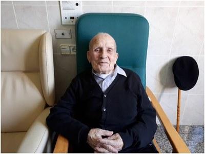 Felicitació institucional al padrí urgellenc Antonio Martínez pels seus 101 anys.