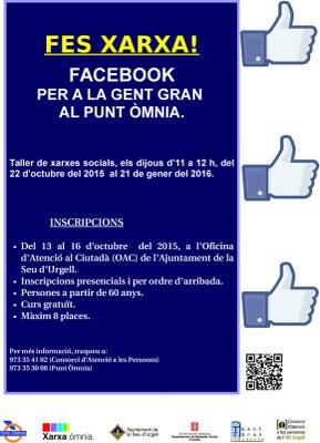 'Fem Xarxa!', nou taller de xarxes socials per a la gent gran al Punt Òmnia