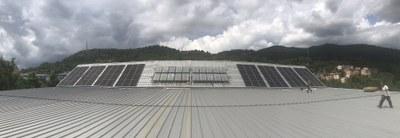 Finalitzada la instal·lació solar fotovoltaica per autoconsum al Palau d'Esports