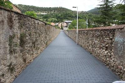 Finalitzades les obres de pavimentació dels carrers Fra Andreu Capella i Bellavista de la Seu d'Urgell