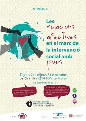 Formació sobre relacions afectives en el marc de la intervenció social amb joves