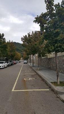 Habilitades 13 places d'aparcament temporals per a persones amb mobilitat reduïda per la Fira de Sant Ermengol