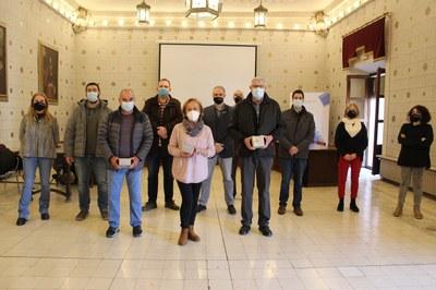 Homenatge als treballadors municipals de l'Ajuntament de la Seu d'Urgell jubilats aquest any 2020