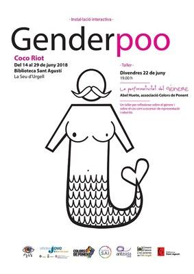 Inauguració de l'exposició 'Genderpoo', de Coco Riot, a la Biblioteca Sant Agustí