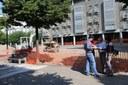 Iniciades les obres de reurbanització de la plaça Joan Sansa