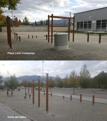Instal·lades dues àrees per practicar street workout