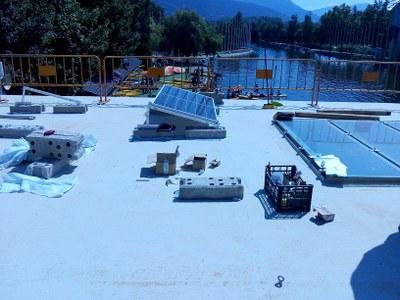 Instal·lació de plaques solars al Parc Olímpic del Segre de la Seu d'Urgell i a l'escola de Castellciutat