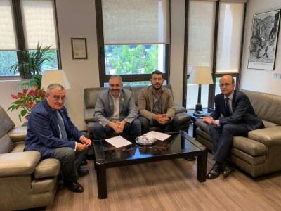Jordi Fàbrega es reuneix amb l'ambaixador d'Espanya al Principat d'Andorra