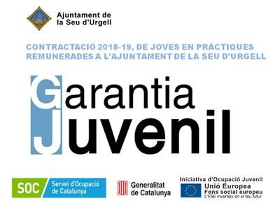 L'Ajuntament de la Seu d'Urgell contracta en pràctiques tres joves titulats dins del Programa Garantia Juvenil