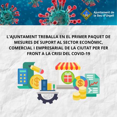 L'Ajuntament de la Seu d'Urgell elabora un primer paquet de mesures de caire econòmic per fer front a la crisi del COVID-19
