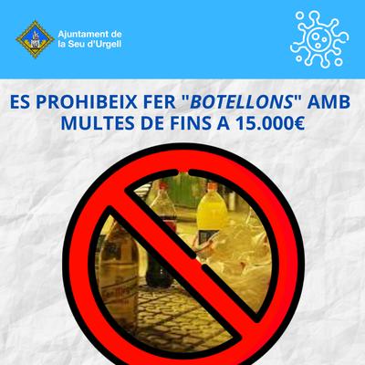 L'Ajuntament de la Seu d'Urgell vetllarà perquè es compleixi la prohibició de fer 'botellón' al municipi