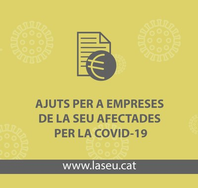 L'Ajuntament de la Seu reobre el període de presentació de dues subvencions per a autònoms i empreses afectats per la COVID-19