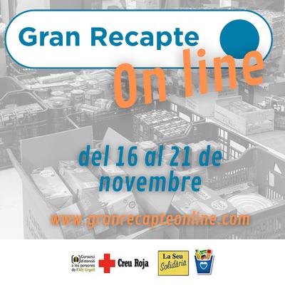 L'Alt Urgell s'afegeix, una edició més, al Gran Recapte d'Aliments que enguany es transforma en una campanya virtual de donacions