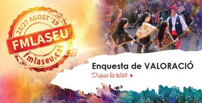 L'enquesta on line per valorar la Festa Major 2019 de la Seu d'Urgell ja ha rebut més de 130 respostes