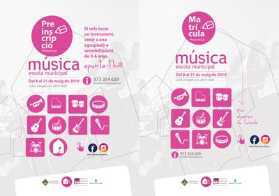 L'Escola Municipal de Música de la Seu d'Urgell obre el període de preinscripcions i matrícules per al proper curs 2019-2020
