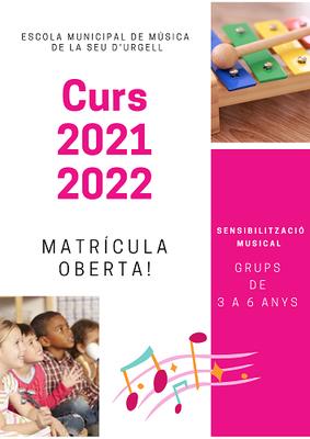 L'Escola Municipal de Música i el Conservatori dels Pirineus inicien el nou curs 2021-2022
