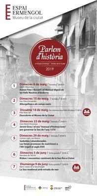 L'Espai Ermengol de la Seu d'Urgell inicia una nova edició del cicle 'Parlem d'Història' amb xerrades, activitats familiars i visites guiades