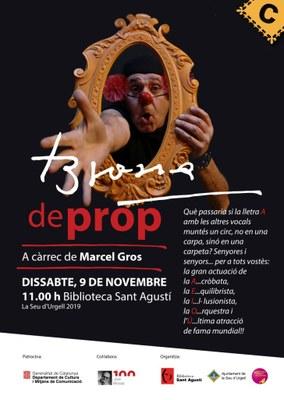 L'espectacle familiar 'Brossa de prop' amb el popular clown Marcel Gros arriba a la Seu d'Urgell