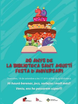 La Biblioteca Sant Agustí celebra 20 anys amb una festa d'aniversari