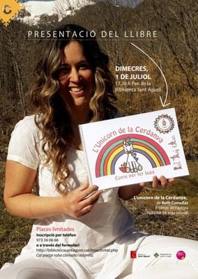 La Biblioteca Sant Agustí reprèn demà les activitats culturals amb la presentació del llibre 'L'unicorn de la Cerdanya', de Ruth Comellas