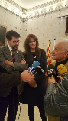 La consellera de Cultura fa una visita oficial a la Seu d'Urgell