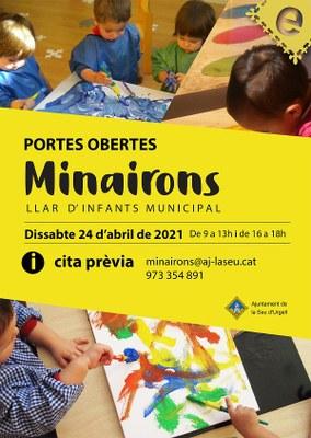 La llar d'infants municipal 'Els Minairons' fa aquest dissabte la jornada de portes obertes