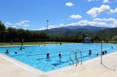 La piscina municipal de la Seu d'Urgell ampliarà el pròxim dilluns al 75% el seu aforament