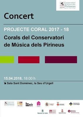La Seu d'Urgell acull aquest cap de setmana l'estada i el Concert del Projecte Coral del Conservatori de Música dels Pirineus