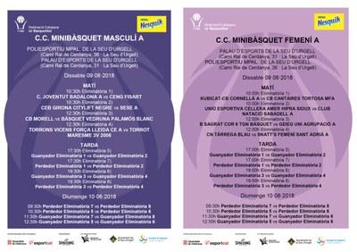 La Seu d'Urgell acull el Campionat de Catalunya de Minibàsquet masculí i femení