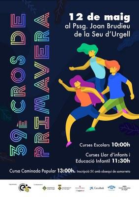 La Seu d'Urgell celebra aquest diumenge el 39è Cros Escolar de Primavera
