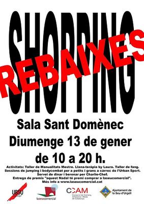 La Seu d'Urgell celebra el 'Shopping Rebaixes' aquest diumenge a la sala Sant Domènec