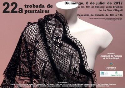 La Seu d'Urgell celebra la 22a Trobada de Puntaires amb prop de 70 participants vingudes d'arreu de Catalunya
