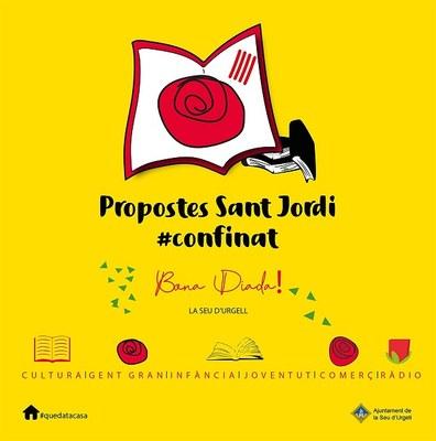 La Seu d'Urgell celebra la diada de la rosa i el llibre de manera confinada