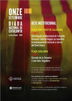 La Seu d'Urgell celebrarà la Diada Nacional de Catalunya amb un acte commemoratiu