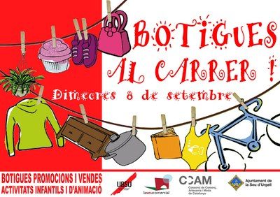 La Seu d'Urgell reprèn l'acció comercial 'Botigues al carrer'