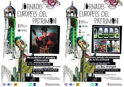 La Seu d'Urgell se suma a les Jornades Europees del Patrimoni amb una xerrada sobre el quadre d'Hèrcules i una visita als claustres de la ciutat