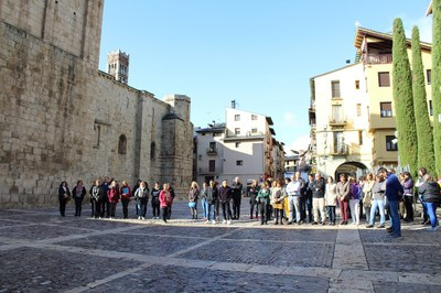 La Seu d'Urgell fa un minut de silenci per les víctimes de les innundacions