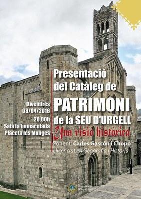 La Seu d'Urgell presenta el Catàleg de Béns Protegits del municipi