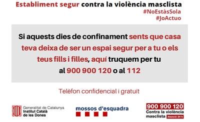 La Seu d'Urgell s'adhereix a la campanya 'Establiment segur contra la violència masclista'