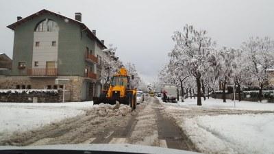 L'Ajuntament de la Seu d'Urgell activa a primera hora del matí el Pla d'Actuació de Nevades