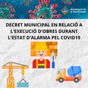L'Ajuntament de la Seu d'Urgell decreta suspendre els terminis d'execució de les obres de promoció privada i municipal