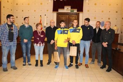L'Ajuntament de la Seu d'Urgell reconeix als palistes urgellencs Travé, Etxaniz i Van der Knijff pels seus èxits esportius
