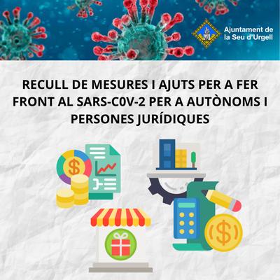 L'Ajuntament de la Seu i el Consell Comarcal de l'Alt Urgell recullen mesures i ajuts per fer front al SARS-COV-2 per autònoms i persones jurídiques