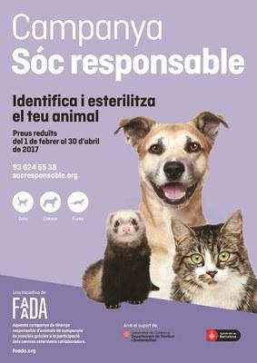 L'Ajuntament de la Seu torna a col·laborar en la campanya 'Sóc responsable' sobre tinença d'animals de companyia