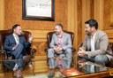 L'alcalde de la Seu d'Urgell, Jordi Fàbrega, visita al Cap de Govern del Principat d'Andorra