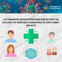 Les farmàcies de la Seu d'Urgell reparteixen 1.000 mascaretes a persones cuidadores de gent gran i persones malaltes