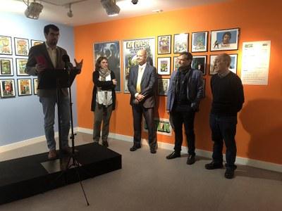 L'urgellenc Josep Benavent inaugura l'exposició 'Herois i superherois' a Sant Julià de Lòria
