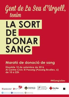 Marató de Donació de Sang a la Seu d'Urgell