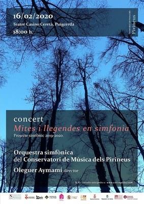 'Mites i llegendes', concert del projecte simfònic del Conservatori de Música dels Pirineus