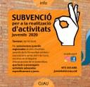 Obert el termini per a sol·licitar una subvenció per a la realització d'activitats juvenils a l'Alt Urgell durant l'any 2020